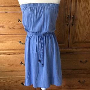 Gap strapless dress with tie belt size small